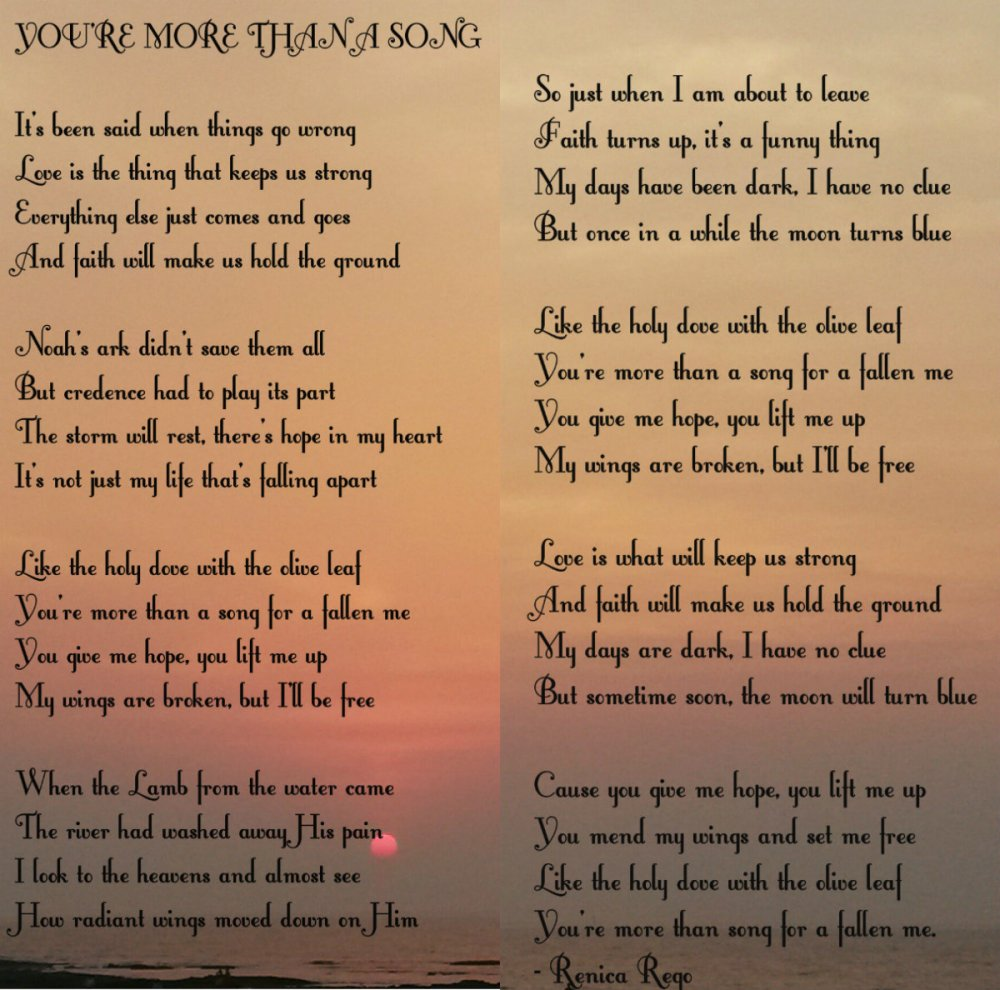 YOU'RE MORE THAN A SONG